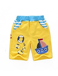 Boy's Cotton Shorts,Summer Print