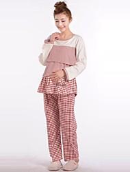 Maternity's Fashion Comfortable Fold Breastfeeding Pajamas Clothing Set