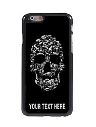 Personalized Case Skull Design Metal Case for iPhone 6 Plus