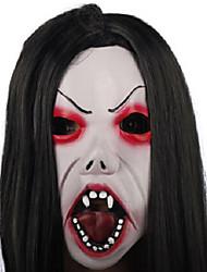 travestimento di Halloween di capelli neri spaventoso e sopracciglia sottili maschera