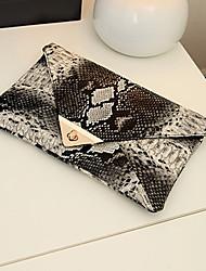 Bonnie Women's Vintage Snake Pattern Korea Elegant Fashionable Clutch Bags