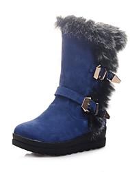Zapatos de mujer - Plataforma - Botas de Nieve - Botas - Vestido - Ante Sintético - Negro / Azul / Amarillo