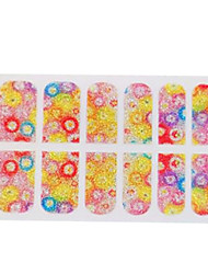 3D Fashion Lady Rainbow Roll Nail Polish Stickers Tattoo Glitter
