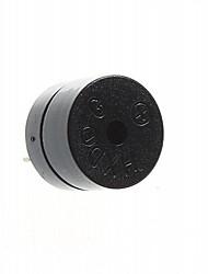 12mm bricolage -12v électromagnétique ensemble du buzzer - noir (5 pièces)