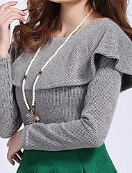 Damenmode süßen dünnen Strick-Pullover