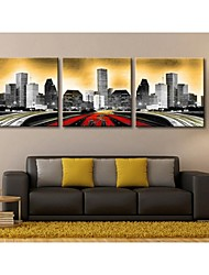 Personalized Canvas Print Road Of The City 30x30cm  40x40cm  60x60cm  Framed Canvas Painting Set of 3