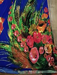 TS-Casual Imprimir Halter Praia Maxi Dress (Imprimir Random)