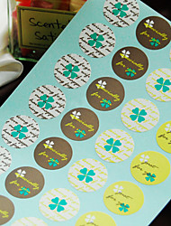 Green Lucky Clovers Favor with 4 Patterns -Set of 40