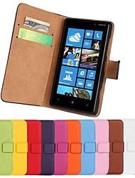 Pour Coque Nokia Portefeuille Porte Carte Avec Support Coque Coque Intégrale Coque Couleur Pleine Dur Cuir PU pour Nokia Nokia Lumia 820