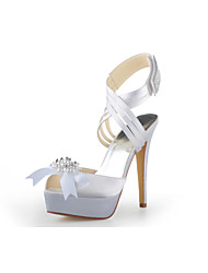 Women's Wedding Shoes Platform/Ankle Strap Sandals Wedding Black/Blue/Pink/Purple/Red/White/Silver/Gold/Champagne/Beige