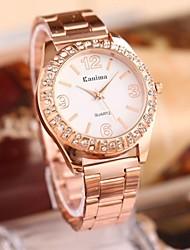 moda femenina rhinestones reloj de la correa de acero