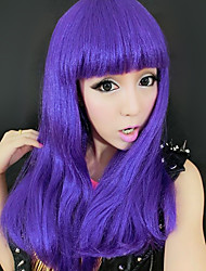 Mysterious Girl Purple Synthetic Fiber 50cm Women's Halloween Party Wig