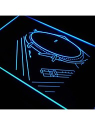 s108 DJ Music Player Band Studio Neon Light Sign