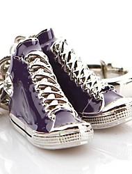 Winko®Canvas Shoes Key Chain.Colour:Purple, Black,Red. (9*9*3.5cm=3.54*3.54*1.38inch)