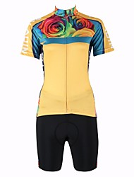 PALADIN® Cycling Jersey with Shorts Women's Short Sleeve Bike Breathable / Quick Dry / Back PocketJersey + Shorts / Jersey / Clothing