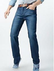 Herren-koreanische Art reine Farbe gerade Jeans