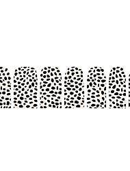 14pcs klassieke punk eenvoudige luipaard nail art stickers
