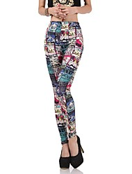 Women's Fashion Magazine Pictorial Graffiti Leggings