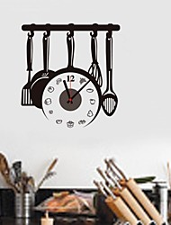 ZOOYOO® Electronic battery clock DIY kitchen tools backround wall clock wall sticker home decor for room