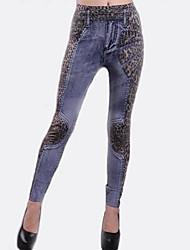 imprimés leggings en denim pour femmes