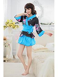 notte flre puff kimono moda biancheria intima sexy delle donne
