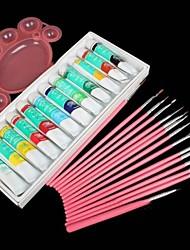 3pcs 3in1 handbemalte farbpigmente avançon stift nail art