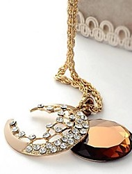 Unisex Rhinestone Necklace Daily Crystal