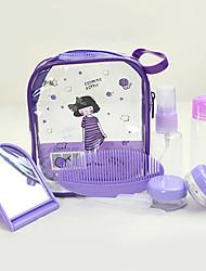 8St schönen Mädchen tragbaren transparent Reise Kosmetik Flasche Set