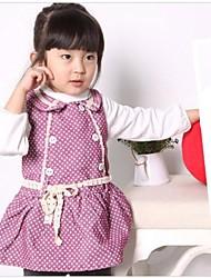 boneca da menina trouxe roxo pontos sem mangas vestido de verão vestido de uma peça