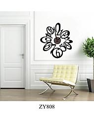 zooyoo® linda forma de flor cronometrador batería electrónica reloj de pared decoración etiqueta engomada casera para usted salón