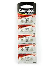 Camelion 1.5В кнопку ag0 щелочная батарея (10шт)