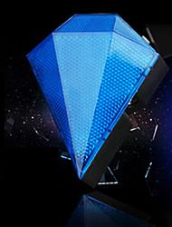 fjqxz 8 Mode LED 3 bleu rechargeable forme de diamant vélo feu arrière laser