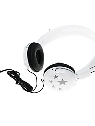 3.5mm Plug Head-Mounted Stereo Headphone - White+Black