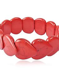 JANE STONE Women's Funky Statement Stylish Chain Bib Turquoise Cluster Bracelet