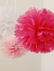 1pcs 10 '' Seidenpapier Pom Poms Bausätze dekorative Blume Bälle für Urlaub, Geburtstag, Hochzeit Baby-Dusche Partei