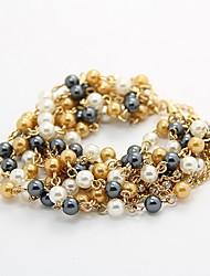 boêmio broche de pérolas de kl Wonen pulseiras elegantes