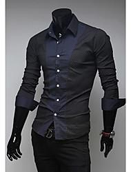 camisa de manga larga al por mayor de Corea del modo característico delgado del comercio exterior de George hombres