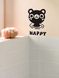 Cartoon The little bear Bathroom Stickers