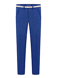 Women's Blue/Black/Yellow Straight Pants , Bodycon/Casual/Work