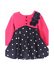 Girl's Multi-color / Red Dress Cotton Fall / Spring