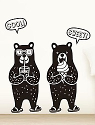 Wall Stickers Wall Decals,  Modern Two bears PVC Wall Stickers