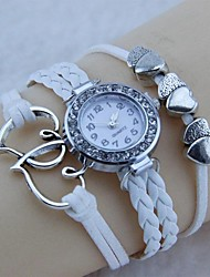Have Mutual Affinity Diamond Woven Bracelet Watch (White) Cool Watches Unique Watches