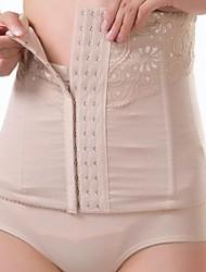 lycra / poliéster de alta cintura rendas imprimir frente shapewear fechamento busk shaper lingerie sexy
