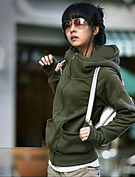 Sexylady New Korean Solid Color Slim Hoodie Coat