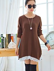 Women's Blue/Red/Black/Brown/Orange Dress , Sexy/Casual/Cute/Work/Plus Sizes Long Sleeve