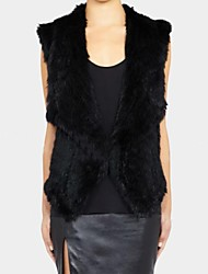 Women's Fashion Luxury Lapel Imitation Fur Warm Vest