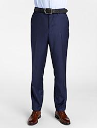 Dark Blue 100% Wool Tailored Fit Pant