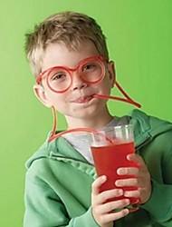 Coway Couples Child Hot Fashion Cartoon Crazy DIY Glasses Straw(Random Color)