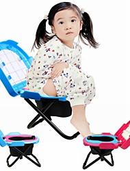 pliage en acier inoxydable portable pour les enfants de toilette de voiture et matériel de abs (couleur aléatoire)