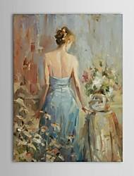 pintados a mano de pintura al óleo personas reflexivas por Steve Henderson con marco de estirado